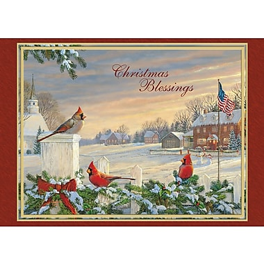 LANG® Colors Of Christmas Boxed Photo Christmas Cards