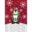 LANG® Artisan Stocking Cap Penguin Petite Christmas Cards