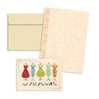 LANG® 3 1/2in. x 5in. 12/Pack Fashion Dresses Petite Note Cards