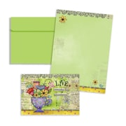 """LANG® 3 1/2"""" x 5"""" 12/Pack Color My World Petite Note Cards"""