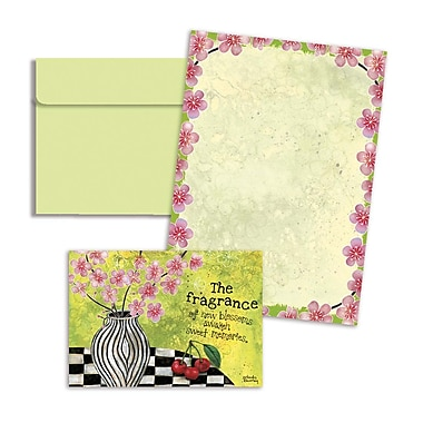 LANG® 3 1/2in. x 5in. 12/Pack Check Chic Petite Note Cards