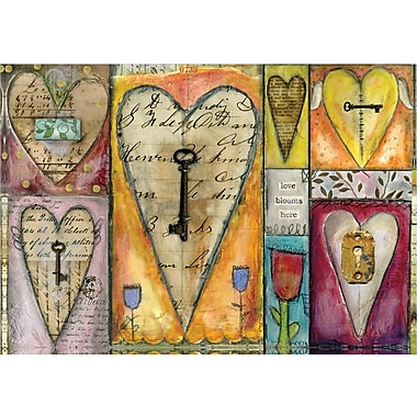 LANG® 3 1/2in. x 5in. 12/Pack Key To My Heart Petite Note Cards
