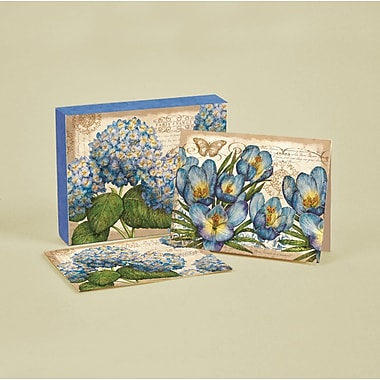 LANG® 4in. x 5 1/4in. 12/Pack Blue Floral Deluxe Note Cards, 12/Set