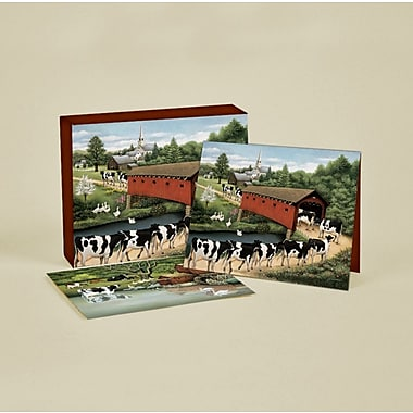 LANG® 4in. x 5 1/4in. 12/Pack Cows Cows Cows Deluxe Note Cards, 12/Set