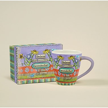 LANG® Artisian Color My World Believe 17 oz. Cafe Mug