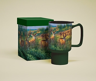 LANG Deer Reunion Ceramic 18 oz. Travel Mug 258887