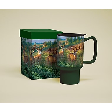 LANG® Deer Reunion Ceramic 18 oz. Travel Mug