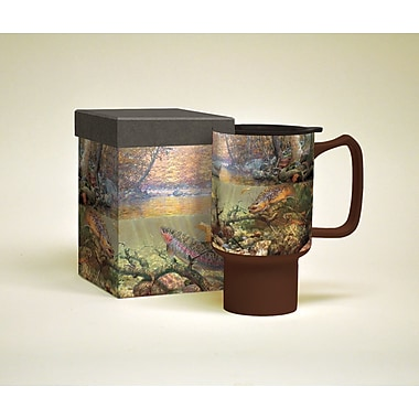 LANG® Autumn Day 18 oz. Trout Ceramic Travel Mug