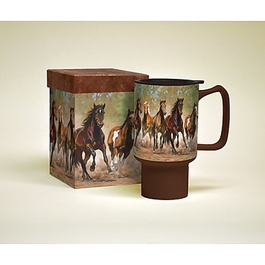 LANG® Horses in the Mist Taking Flight Ceramic 18 oz. Travel Mug