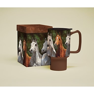 LANG® Horses in the Mist Heads Up 18 oz. Travel Mug
