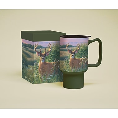 LANG® Red Velvet Deer 18 oz. Travel Mug