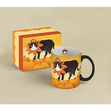 LANG® American Cat Pumpkin Scooter 14 oz. Coffee Mug