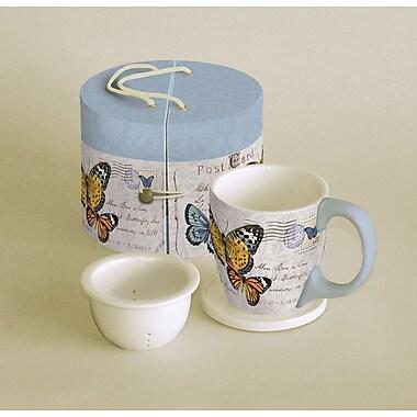 LANG® Butterfly Postcard 11 oz. Tea Mug Set