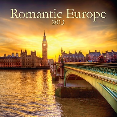 Avalanche® Romantic Europe 2014 Wall Calendar, 12in. x 12in.