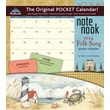 LANG® Avalanche Folk Song 2014 Note Nook® Pocket Calendar, 13 1/4in. x 11 3/4in.