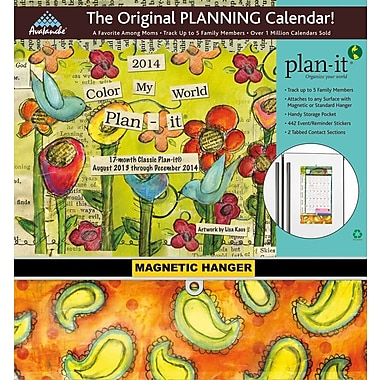 Avalanche® Color My World Plan-It® 2014 Classic Calendar, 11in. x 12in.