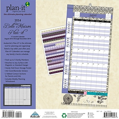Avalanche® Belle Maison Plan-It® Plus 2014 Calendar