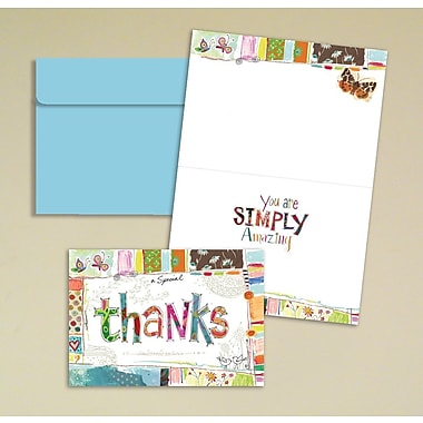 LANG® Avalanche 3 1/2in. x 5in. 12/Pack Wonderfully Quirky Petite Note Cards