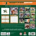 Turner Licensing® Miami Hurricanes 2014 Team Wall Calendar, 12in. x 12in.
