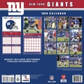 Turner Licensing® New York Giants 2014 Team Wall Calendar, 12in. x 12in.