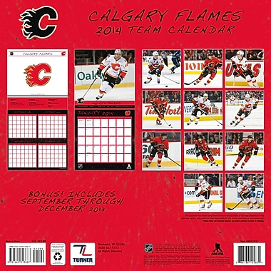 Turner Licensing® Calgary Flames 2014 Team Wall Calendar, 12in. x 12in.
