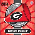 Turner Licensing® Georgia Bulldogs 2014 Box Calendar, 5 1/4in. x 5 1/4in.