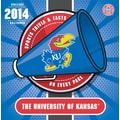 Turner Licensing® Kansas Jayhawks 2014 Box Calendar, 5 1/4in. x 5 1/4in.