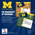 Turner Licensing® Michigan Wolverines 2014 Box Calendar, 5 1/4in. x 5 1/4in.