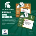 Turner Licensing® Michigan State Spartans 2014 Box Calendar, 5 1/4in. x 5 1/4in.