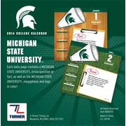 Turner Licensing® Michigan State Spartans 2014 Box Calendar, 5 1/4 x 5 1/4