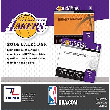 Turner Licensing® Los Angles Lakers 2014 Box Calendar, 5 1/4in. x 5 1/4in.
