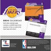 Turner Licensing® Los Angles Lakers 2014 Box Calendar, 5 1/4 x 5 1/4