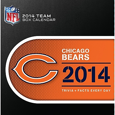 Turner Licensing® Chicago Bears 2014 Box Calendar, 5 1/4in. x 5 1/4in.