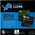 Turner Licensing® Detroit Lions 2014 Box Calendar, 5 1/4in. x 5 1/4in.