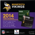 Turner Licensing® Minnesota Vikings 2014 Box Calendar, 5 1/4in. x 5 1/4in.