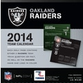 Turner Licensing® Oakland Raiders 2014 Box Calendar, 5 1/4in. x 5 1/4in.