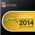 Turner Licensing® San Diego Chargers 2014 Box Calendar, 5 1/4in. x 5 1/4in.