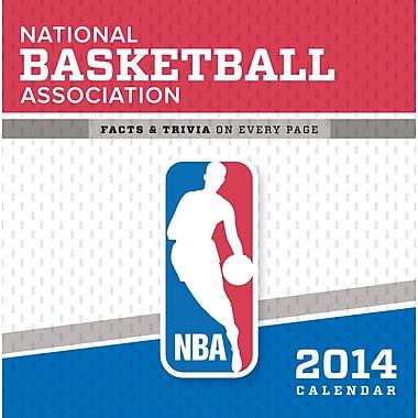 Turner Licensing® NBA All Team 2014 Box Calendar, 5 1/4in. x 5 1/4in.
