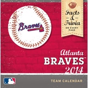 Turner Licensing® Atlanta Braves 2014 Box Calendar, 5 1/4 x 5 1/4