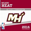 Turner Licensing® Miami Heat 2014 Box Calendar, 5 1/4in. x 5 1/4in.