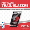 Turner Licensing® Portland Trail Blazers 2014 Box Calendar, 5 1/4in. x 5 1/4in.