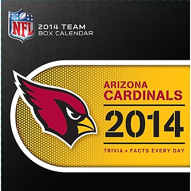 Turner Licensing® Arizona Cardinals 2014 Box Calendar, 5 1/4in. x 5 1/4in.