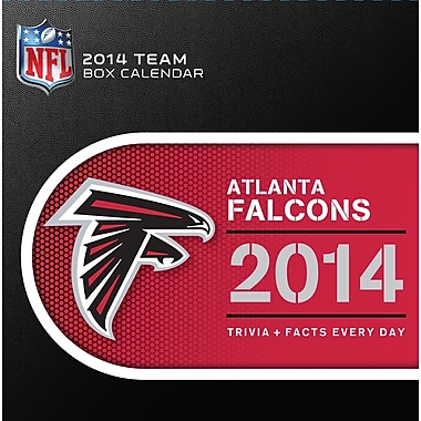 Turner Licensing® Atlanta Falcons 2014 Box Calendar, 5 1/4in. x 5 1/4in.