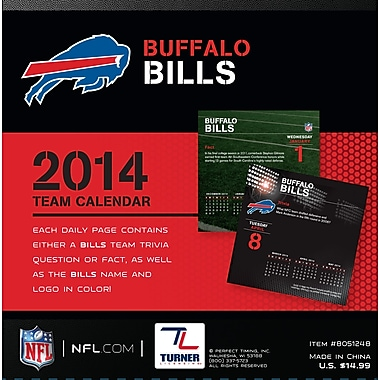 Turner Licensing® Buffalo Bills 2014 Box Calendar, 5 1/4in. x 5 1/4in.