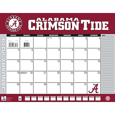 Turner Licensing® Alabama Crimson Tide 2014 Desk Calendar, 22in. x 17in.