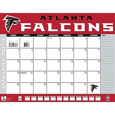 Turner Licensing® Atlanta Falcons 2014 Desk Calendar, 22in. x 17in.