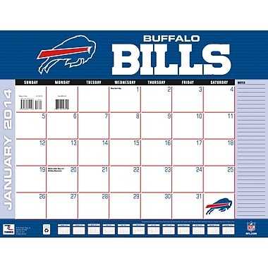 Turner Licensing® Buffalo Bills 2014 Desk Calendar, 22in. x 17in.