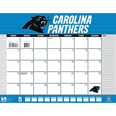 Turner Licensing® Carolina Panthers 2014 Desk Calendar, 22in. x 17in.