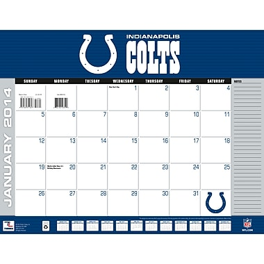 Turner Licensing® Indianapolis Colts 2014 Desk Calendar, 22in. x 17in.