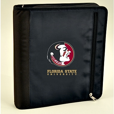 Turner Licensing® Nylon Florida State Seminoles Zipper Binder, Black